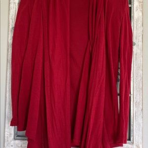 Women's red scarf blouse
